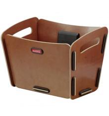 KLICKFIX Radkiste 2 handlebar natura wooden handlebar front bike basket