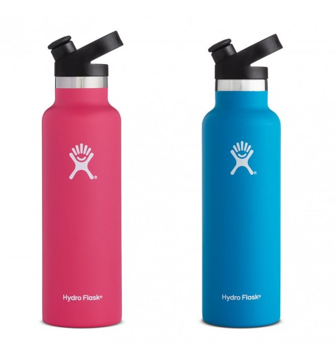 HydroFlask 21 oz Standard Mouth Flask with sport cap