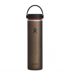 HYDROFLASK Gourde 70 cl 24 Oz Wide Mouth Trail Lightweight avec Flex Cap Slate Obsidian