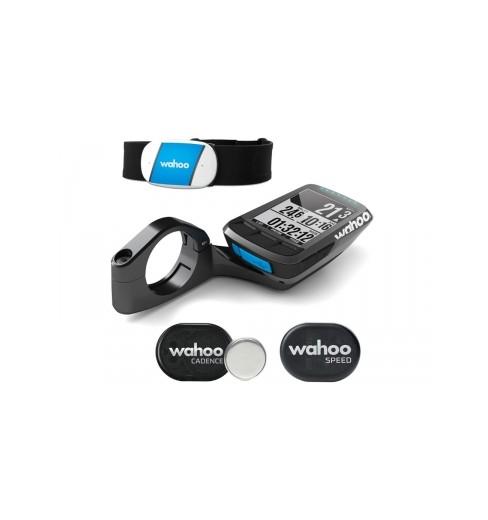 Pack compteur vélo GPS WAHOO Elemnt Bolt - ceinture cardio TICKR + capteurs RPM vitesse cadence