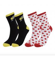 Lot de 2 paires de chaussettes cyclistes Tour de France 2020