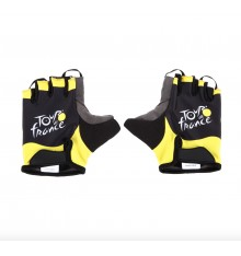 TOUR DE FRANCE black yellow cycling gloves 2020