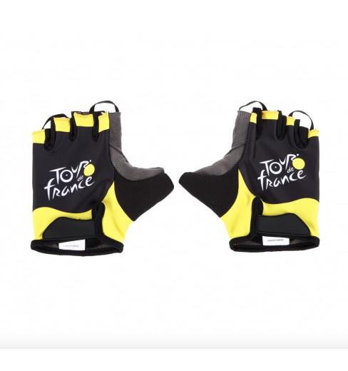 TOUR DE FRANCE black yellow cycling gloves 2020