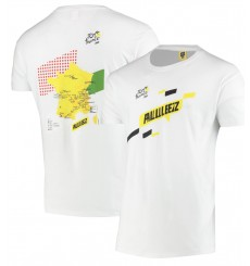 TOUR DE FRANCE white Parcours t-shirt 2020