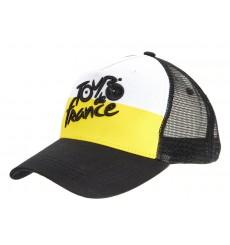 TOUR DE FRANCE casquette Fan Noir/Jaune 2020