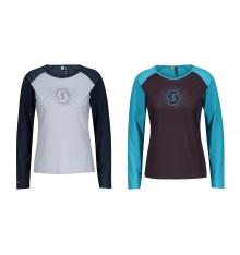 SCOTT DEFINED MERINO GRAPHIC women's long sleeve MTB jersey 2021