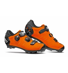 Chaussures VTT SIDI Dragon 5 SRS Carbone orange mat noir