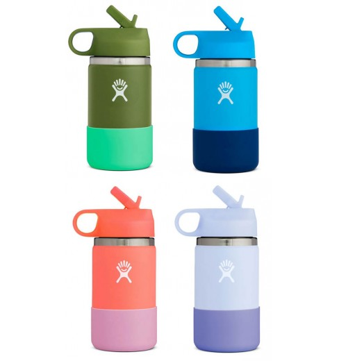 HydroFlask 12 oz Kids Wide Mouth insulated water bottle - 355 ml