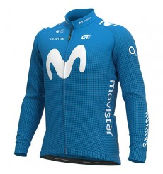 MOVISTAR maillot velo manches longues 2020