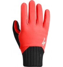 SPECIALIZED BG DEFLECT red winter cycling gloves