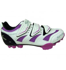 SPIUK chaussures VTT ZS2M blanche violette