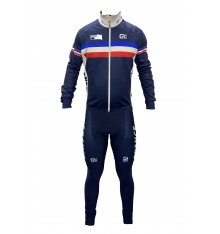 FRENCH TEAM winter cycling set with thermal jacket 2020