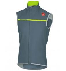 CASTELLI gilet cycliste Perfetto gris / jaune