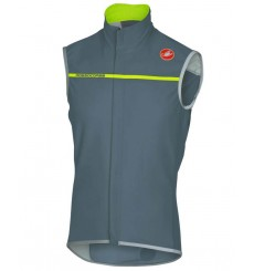 CASTELLI Perfetto cycling vest - grey / yellow