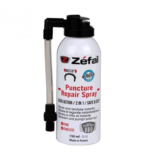ZEFAL bombe anti-crevaison Repair Spray 150 ml