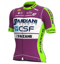 ALE maillot vélo manches courtes BARDIANI CSF FAIZANE PR-S vert - lilas 2020