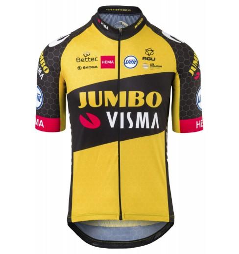 TEAM JUMBO VISMA maillot velo manches courtes Replica 2021