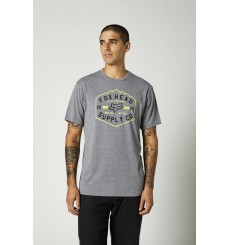 FOX RACING BACKBONE TECH grey short sleeve tee