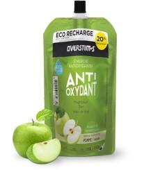 OVERSTIMS gel énergétique antioxydant liquide Pomme Verte - Éco-recharge 250gr