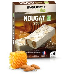 OVERSTIMS Pack of 4 ORGANIC NOUGAT BAR