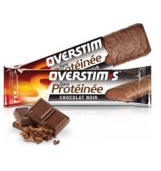 OVERSTIMS Barre Protéinée Chocolat Noir