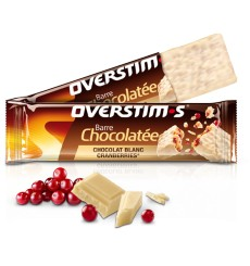 overstims CRANBERRIES-WHITE CHOCOLATE BAR