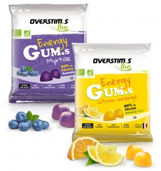 OVERSTIMS ORGANIC ENERGY GUMS Vegan Pack of 8 chewy bites