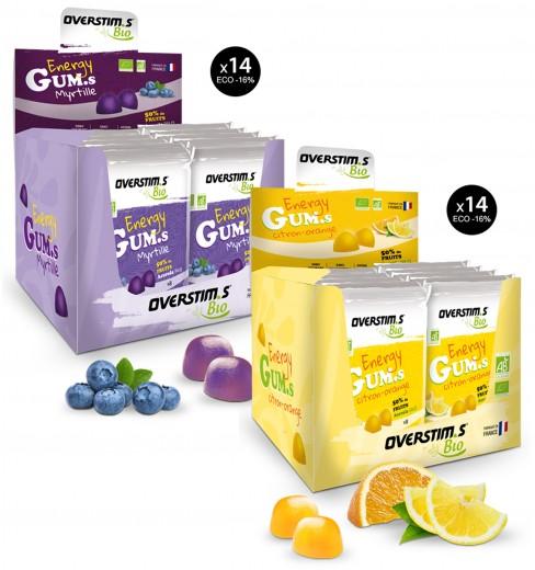 OVERSTIMS ORGANIC ENERGY GUMS Vegan 14 Packs of 8 chewy bites