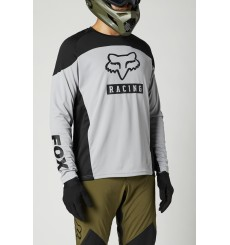 FOX RACING Defend grey/black long sleeve Jersey