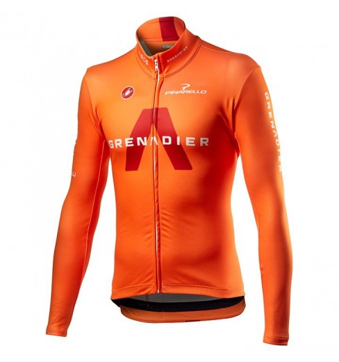 Maillot vélo manches longues Thermal Orange INEOS GRENADIERS 2021