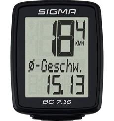 SIGMA compteur vélo sans fil BC 7.16 ATS