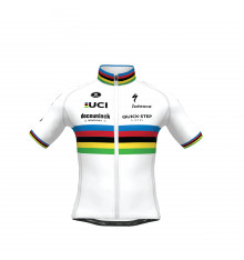 Maillot vélo enfant Champion du Monde SP.L AERO DECEUNINCK QUICK STEP FLOORS 2021