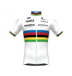 Maillot manches courtes cycliste Champion du Monde Aero SP.L DECEUNINCK QUICK STEP FLOORS 2021