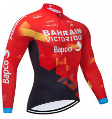 BAHRAIN VICTORIOUS Thermal long sleeve jersey 2021