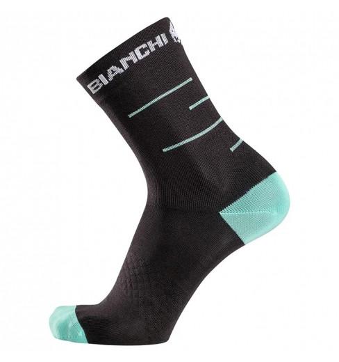 CELESTE//BLACK Bianchi Milano ORETO Coolmax Cycling Socks