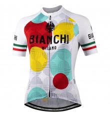 Maillot vélo manches courtes femme BIANCHI MILANO Ancipa blanc - multicolore 2021