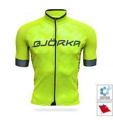 BJORKA Team Pro 2021 Yellow short sleeve jersey