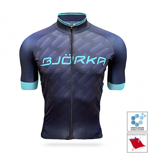 BJORKA maillot vélo manches courtes Team Pro 2021 Bleu