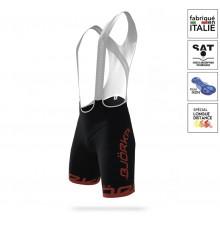 BJORKA Premium 2021 black / red bib shorts