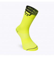 BJORKA TEAM 2021 black / yellow summer cycling socks