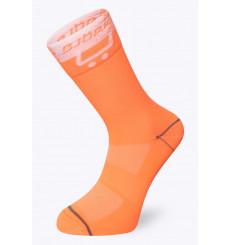 BJORKA TEAM 2021 white / orange summer cycling socks