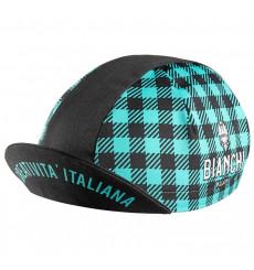 BIANCHI casquette Neon Nero / Celeste Quadretti