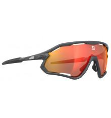 AZR Coffret lunettes de vélo ATTACK RX Gris Matte / Écran Rouge Multicouche + Écran incolore