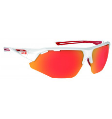 AZR GALIBIER Red / White with red multilayer lens cycling sunglasses