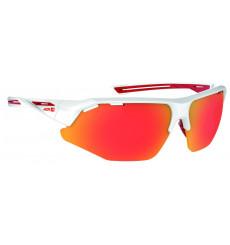 AZR lunettes de vélo GALIBIER Rouge / Blanc avec écran Rouge multicouche