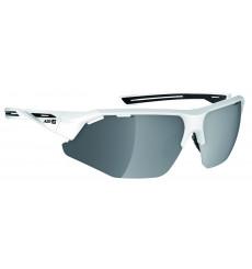 AZR lunettes de vélo GALIBIER Noir / Blanc avec écran Gris Miroir