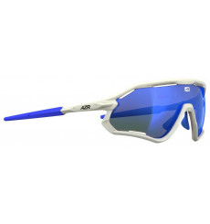 AZR GALIBIER White with blue multilayer lens cycling sunglasses