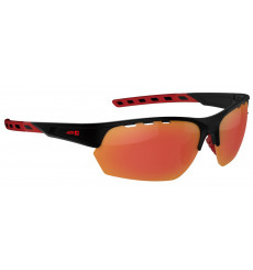 AZR IZOARD Matte Black / Red with red multilayer lens cycling sunglasses