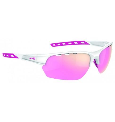 AZR lunettes de vélo IZOARD Blanc / Rose avec écran Rose multicouche
