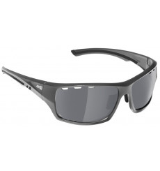 AZR lunettes de vélo LAND Gris Mat / Noir avec écran polarisant gris Miroir